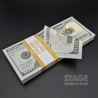 $10,000 Full Print New Style Prop Money Stack
