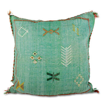 Moroccan Cactus Silk Pillow I