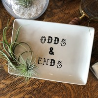 """Stoneware """"Odds & Ends"""" Plate"""