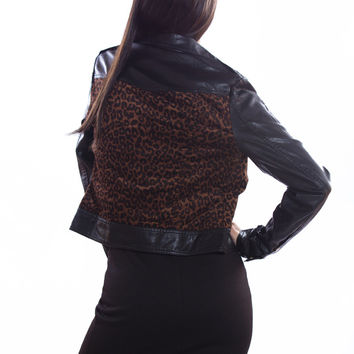 Cheetah Leather Jacket