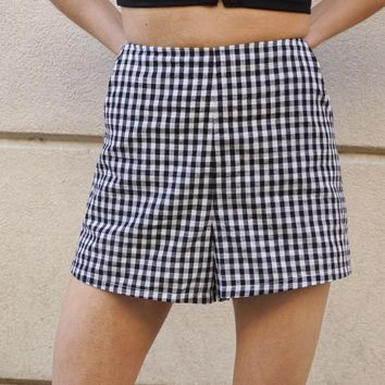 """Sweet Tea"" High Waisted Gingham Shorts"