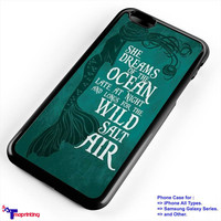 Ariel mermaid life quote - Personalized iPhone 7 Case, iPhone 6/6S Plus, 5 5S SE, 7S Plus, Samsung Galaxy S5 S6 S7 S8 Case, and Other