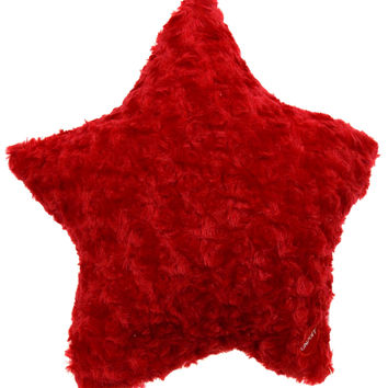 "Red Star Plush Pillow Multi Color LED Light Up Flash Throw Couch 13"" Microbeads"