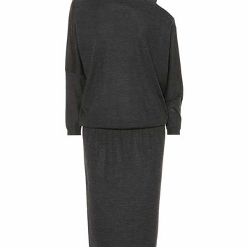 Precious Strap cashmere-blend dress