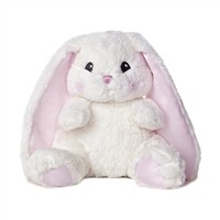 Baby Safe 10 Inch Pink and White Plush Lop Ear Baby Bunny by Aurora