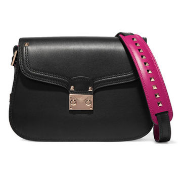 Valentino - Cabana two-tone leather shoulder bag