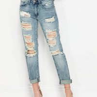 Can't Distress It Enough Boyfriend Jeans
