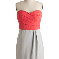 ModCloth Mid-length Strapless Shift Extreme Excellence Dress