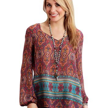 Stetson Medallion Print Top