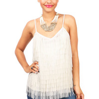 Feather Fringe Cami