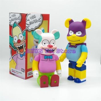 Batman Dark Knight gift Christmas 400% bearbrick Bear@brick Batman krusty the clown The Simpsons PVC Action Figure Fashion Toy SD56 AT_71_6