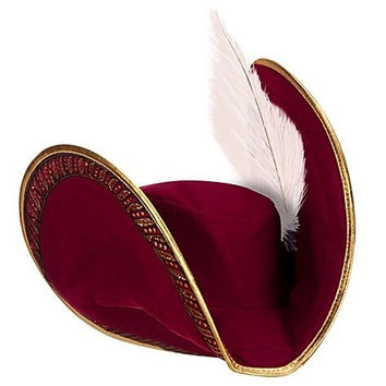 Disney Store Captain Hook Costume Pirate Hat with Feather for Boys (One Size)