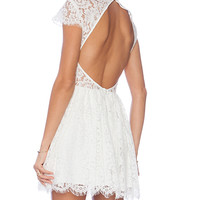 keepsake Eclipse Dress in White