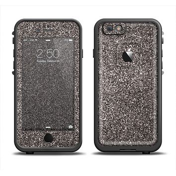 The Black Glitter Ultra Metallic Skin Set for the Apple iPhone 6 LifeProof Fre Case