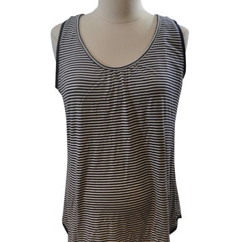Blue & White Stripe Sleep Tank Top by A Pea In The Pod