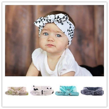 Baby newborn rabbit bunny ears knot turban headband hair head bands wrap summer accessories for girls headwrap headwear headband