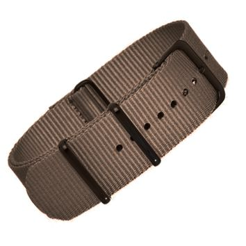 22mm Brown Nylon NATO - Black Buckle