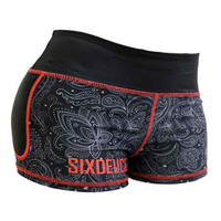 Six Deuce Dark Paisley Hotpants Shorts