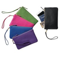 TravelSmith RFID-Blocking Leather Wristlet