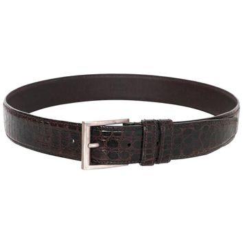 Prada Brown Crocodile Belt sz 75
