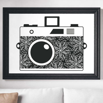 Camera Painting Poster Art Print Canvas Print Wall Decor Canvas Poster Print Digital Print Designer Art Painting Wall Art Home Gift