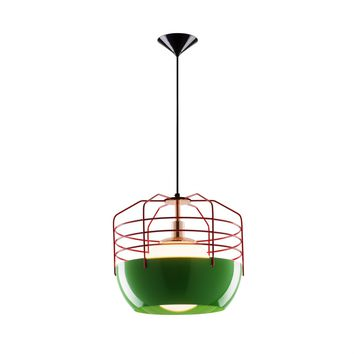 Folsom Pendant Lamp Red on Green / Industry West