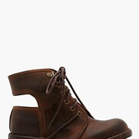 Jeffrey Campbell Rosie Cutout Combat Boot - Brown