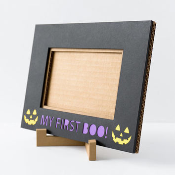 4x6 Halloween Picture Frame, Black Halloween Cardboard Picture Frame, Photo Frame, Halloween Kids Party Decor, Halloween Party Decoration