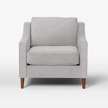 Paidge Chair, Down Blend, Cone Pecan, Chenille Tweed, Frost Gray