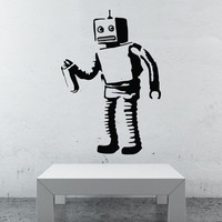 Banksy Robot Wall Decals