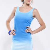Faded Dream Dress - Blue