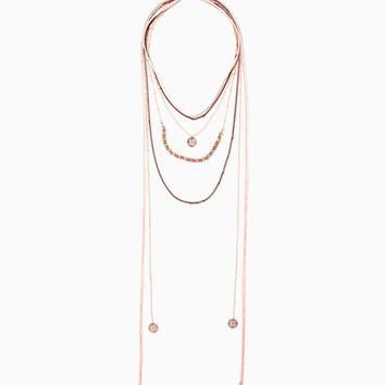 Rigel Velvet Layered Necklace | Charming Charlie