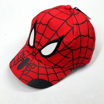 Trendy Winter Jacket Cotton Cartoon Spiderman Peaked Cap Hat for Children Trend Boys Snapback Adjustable 5 Panel Baseball Caps Gorras Sunhat GH-323 AT_92_12