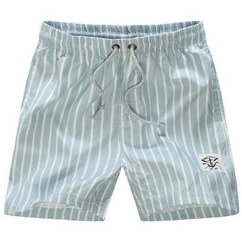 Fashion men beach shorts New brand boardshort shorts homme quick drying Casual stripes mens Casual board shorts