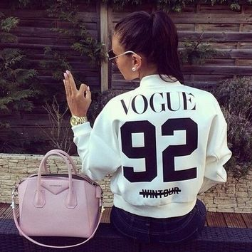 womens casual sports baseball jacket girls lady autumn winter vogue sweater sweatshirt gift 61