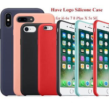 Have Logo Phone Case for iPhone 7 7 Plus Original Silicone Cover 41a6e619e