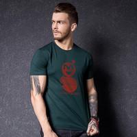 Men's Fashion Summer Round-neck Strong Character Print T-shirts [10488644291]
