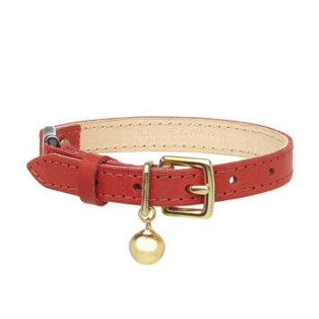 Smooth Leather Cat Collar With Safety Catch