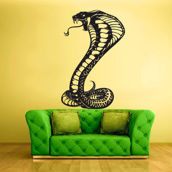 rvz442 Wall Vinyl Sticker Bedroom Decal Snake Cobra