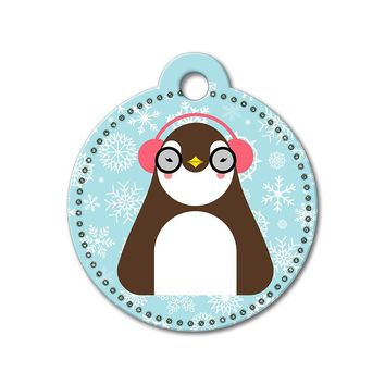 Penguin Holiday Dog Tag