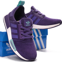 "Fashion ""Adidas"" Women Trending NMD Running Sports Shoes Purple"