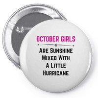 October Girls Pin-back button