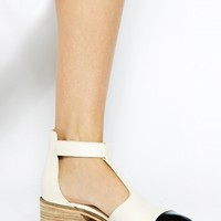 ASOS MASTERPIECE Leather T-Bar Flat Shoes