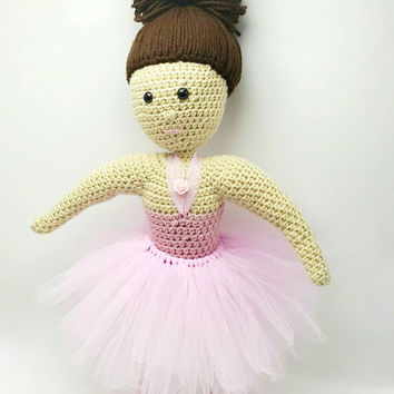 Ballerina Doll | Stuffed Ballerina Doll | Ballerina Amigurumi | Handmade Ballerina Doll | Ready to Ship | Gift for Her | Free Shipping
