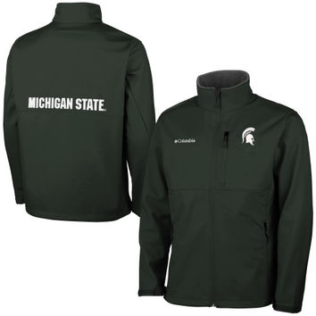 Michigan State Spartans Columbia Ascender Bonded Softshell Jacket – Green