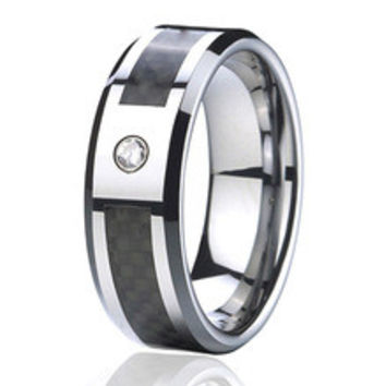 shop black titanium rings with diamonds on wanelo. Black Bedroom Furniture Sets. Home Design Ideas