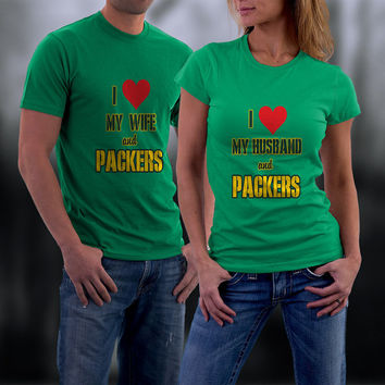 Packers, Green Bay Packers Couples Shirts, Personalized Couple Shirts. Ladies and Men Tshirt