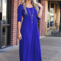 Always Be Mine Maxi Dress, Royal Blue