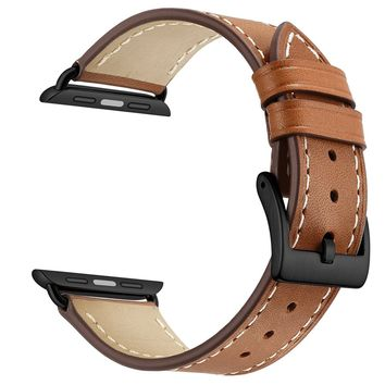 Apple Watch Band Leather Replacement Watch Strap with Stainless Metal Buckle Clasp iwatch series 1 2 3 Replacement strap