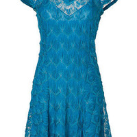 STYLEBOP.com | Turquoise V-Neck Dress by MISSONI | the latest trends from the capitals of the world